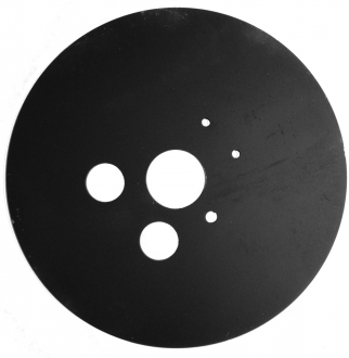 Plaque acier pour tête de forage 32 mm -  Epaisseur 3 mm