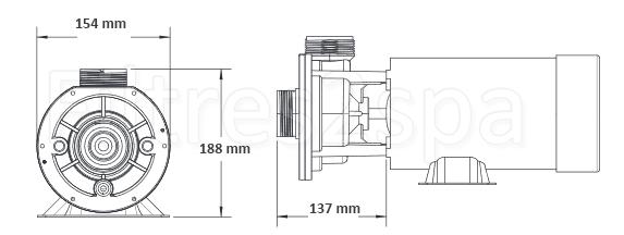 dimensions pompe cd e series