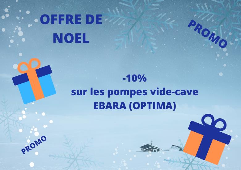 Promotion pompes EBARA -10% (noel)