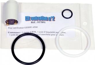 Kit d'entretien  E-2 pour GERMI AP60 et AP 36 (starter + joint de gaine + bague pour gaine + joint capteur) #1