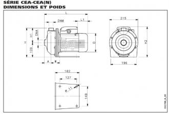 Pompes de surface LOWARA série CEA - débit maxi 9.6 m³/h #5