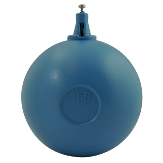 Boule plastique pour robinet industriel