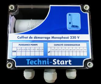 Coffrets de démarrage pour moteur immergé PANELLI 4'' - 230 V - Série TECHNI-START QP